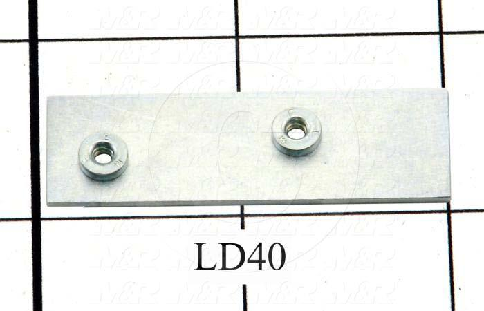 Fabricated Parts, Tapping Strip, 2.00 in. Length, 0.63 in. Width, 18 GA Thickness, Zinc Plated Finish