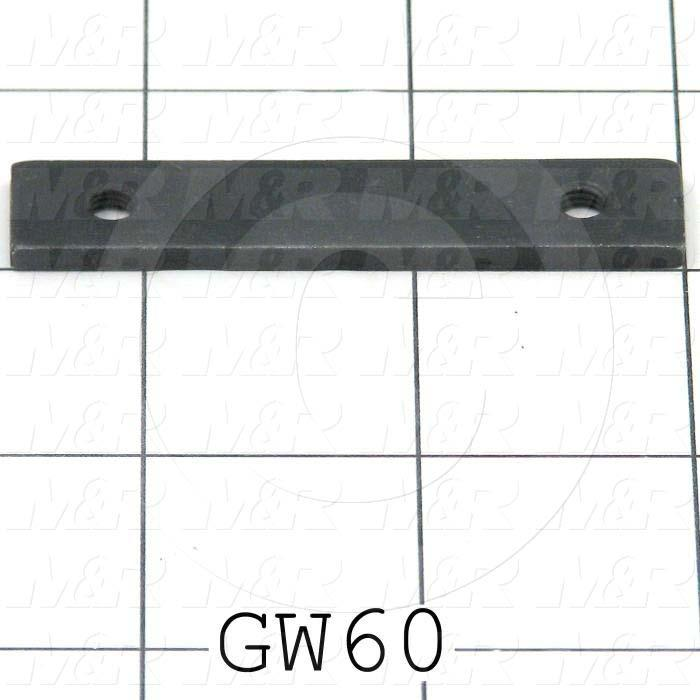 Fabricated Parts, Tapping Strip, 2.50 in. Length, 0.50 in. Width, 11 GA Thickness