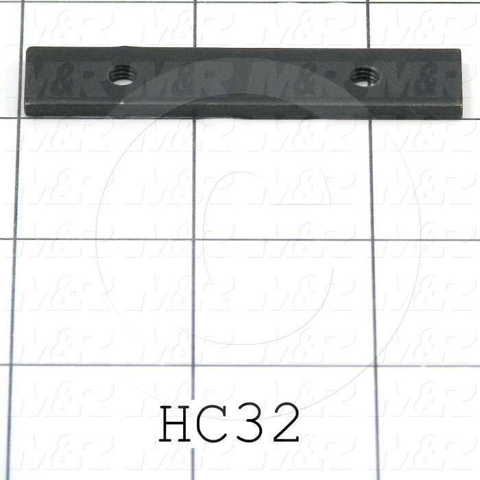 Fabricated Parts, Tapping Strip, 2.50 in. Length, 0.50 in. Width, 11 GA Thickness, Black Oxide Finish