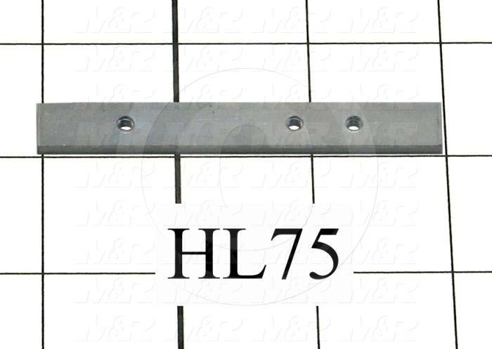 Fabricated Parts, Tapping Strip, 3.00 in. Length, 0.38 in. Width, 11 GA Thickness, Zinc Finish