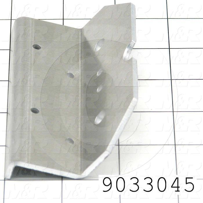 Fabricated Parts, Temp. Switch Bracket, 4.50 in. Length, 2.34 in. Width, 1.27 in. Height, 1/8 in. Thickness