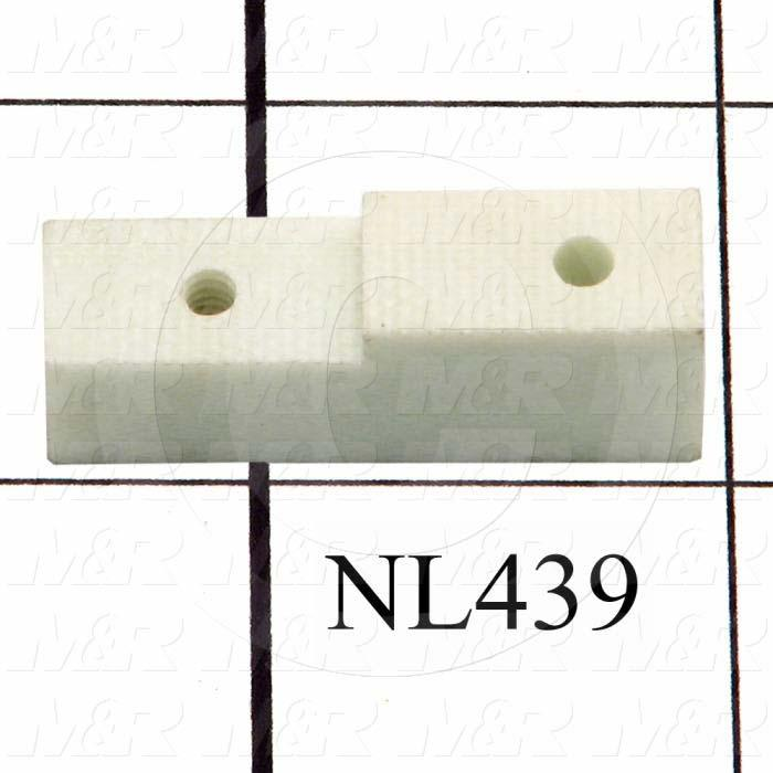 Fabricated Parts, Temperature Sensor Bracket, 1.38 in. Length, 0.50 in. Width, 0.38 in. Height