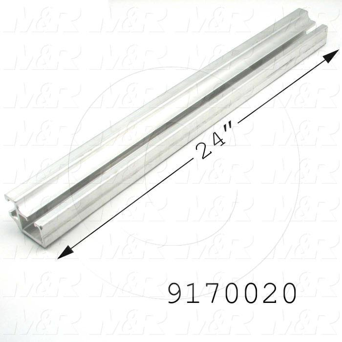 Fabricated Parts, Tension Bar, 24.00 in. Length, 2.44 in. Width, 1.94 in. Height