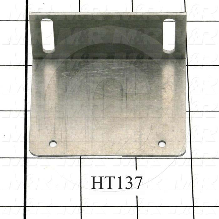 Fabricated Parts, Thermostat Bracket, 1.50 in. Length, 2.88 in. Width, 2.19 in. Height, 0.063 in. Thickness
