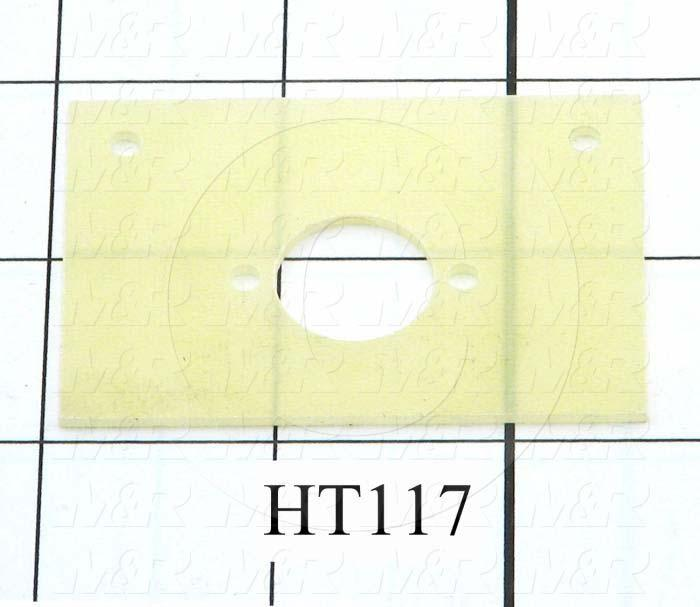 Fabricated Parts, Thermostat Insulator, 2.50 in. Length, 1.50 in. Width, 0.063 in. Thickness