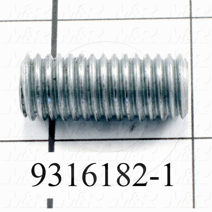 Fabricated Parts, Threaded Rod, 1.25 in. Length, 1/2-13 Thread Size