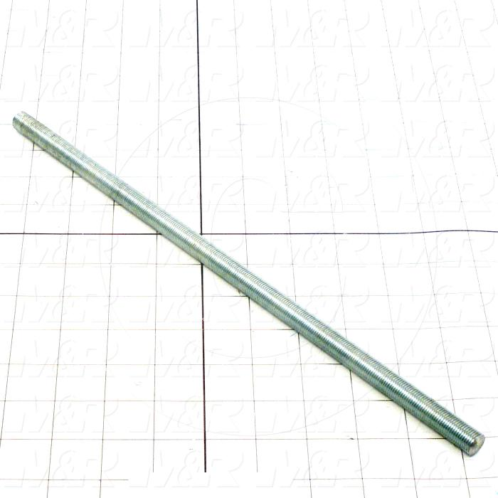 Fabricated Parts, Threaded Rod, 14.00 in. Length, 1/2-20 Thread Size