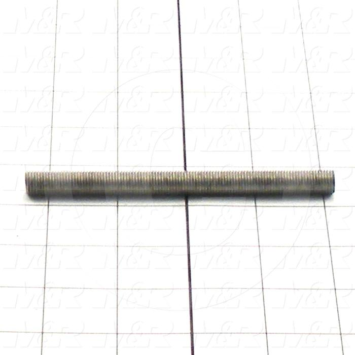 Fabricated Parts, Threaded Rod 3/8-24 X 4.5 in. Length, 4.50 in. Length, 3/8-24 Thread Size, Zinc Plated Finish