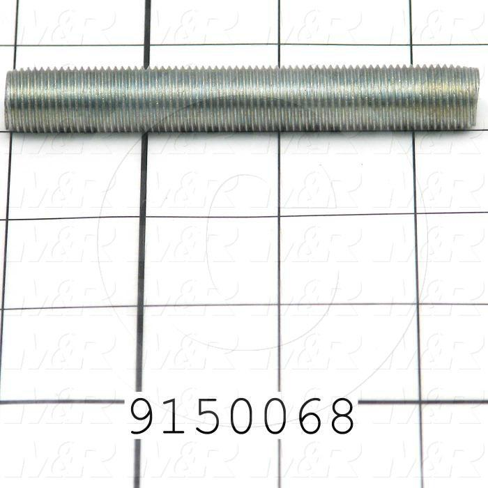 Fabricated Parts, Threaded Rod, 4.00 in. Length, 1/2-20 Thread Size