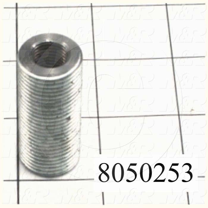 Fabricated Parts, Threaded Rod Connector, 1.75 in. Length, 3/4-16 Thread Size