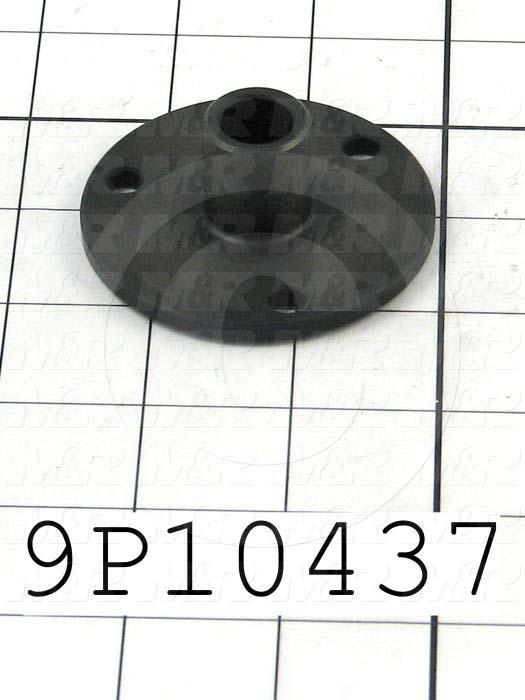 Fabricated Parts, Threaded Rod Upper Bearing, 1.00 in. Length, 2.50 in. Diameter, Black Oxide Finish