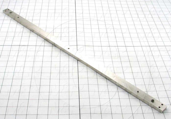 Fabricated Parts, Top Cross Bar, 26.61 in. Length, 0.88 in. Width, 3/8 in. Thickness, Nickel Plated Finish