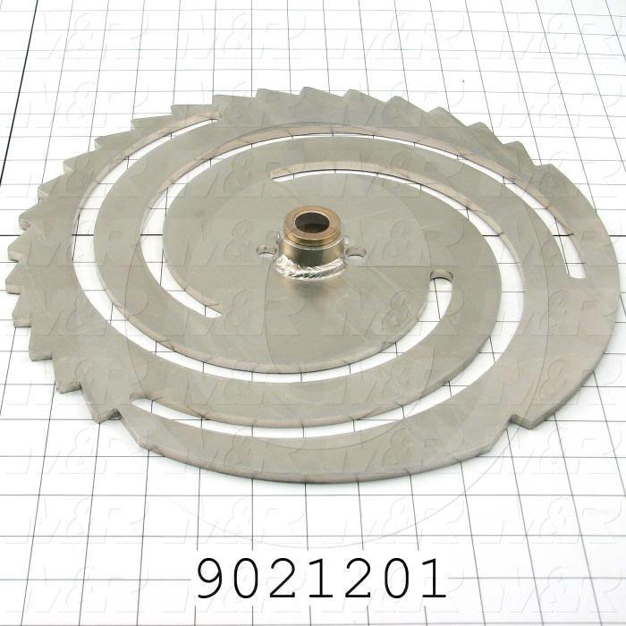 Fabricated Parts, Top Plate, 13.50 in. Width, 0.25 in. Thickness