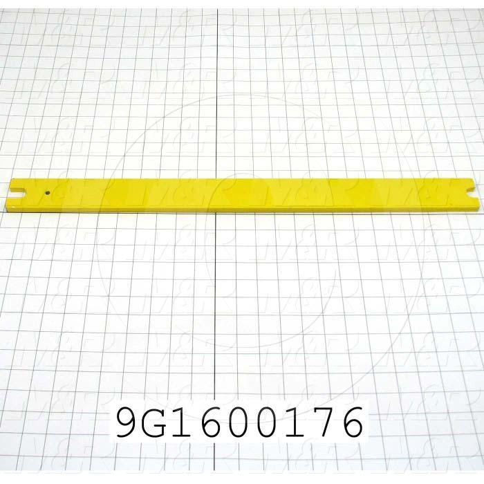 Fabricated Parts, Transit Plate, 24.23 in. Length, 2.00 in. Width, 3/8 in. Thickness, Painted Bright Orange Finish