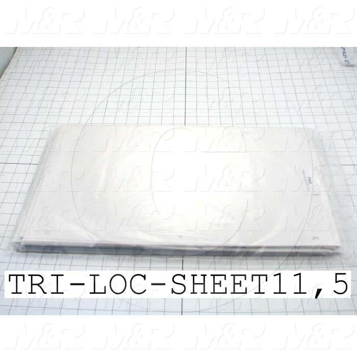 Fabricated Parts, Tri-Loc Carrier Sheets, 20.00 in. Length, 11.50 in. Width
