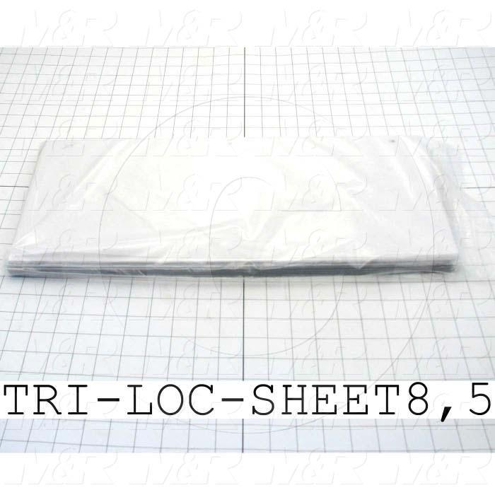 Fabricated Parts, Tri-Loc Carrier Sheets, 8.50 in. Length, 20.00 in. Width