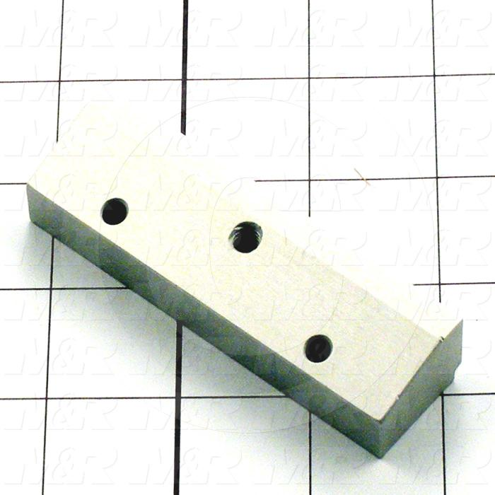 Fabricated Parts, Tri-Loc Long Stop Block, 3.50 in. Length, 0.75 in. Width, 1.00 in. Height, OC50003 Clear Anodizing Finish