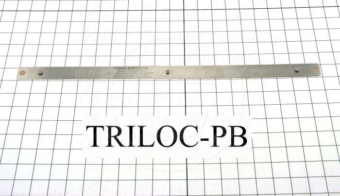 Fabricated Parts, Tri-Loc Pin Bar (3-Pin), 20.00 in. Length, 1.00 in. Width