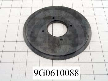 Fabricated Parts, Trim Disc, 6.00 in. Diameter, 0.28 in. Thickness