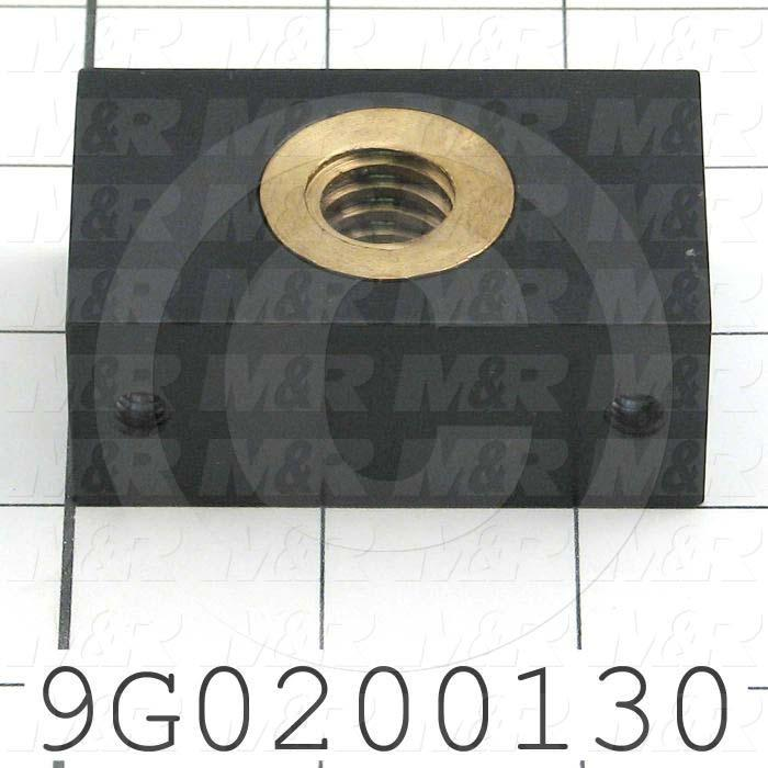 Fabricated Parts, Tucker Ball Nut Block, 2.50 in. Length, 1.50 in. Width, 0.50 in. Thickness