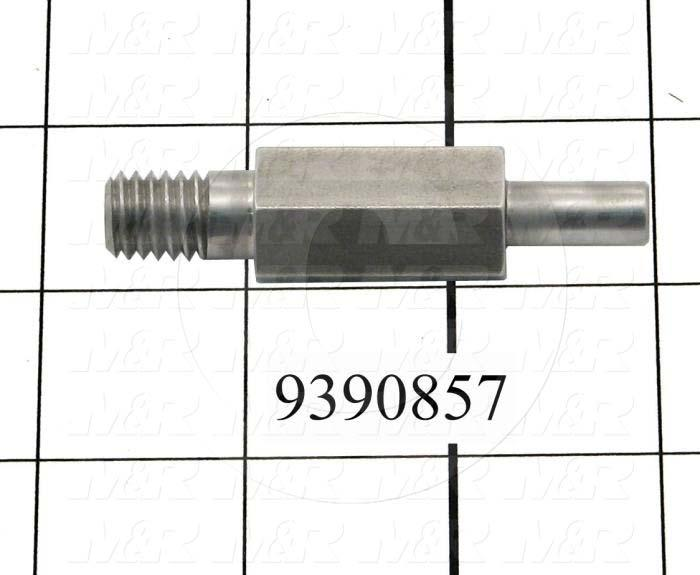 Fabricated Parts, Upper Bearing Shaft, 2.60 in. Length, 0.63 in. Width, 0.63 in. Height