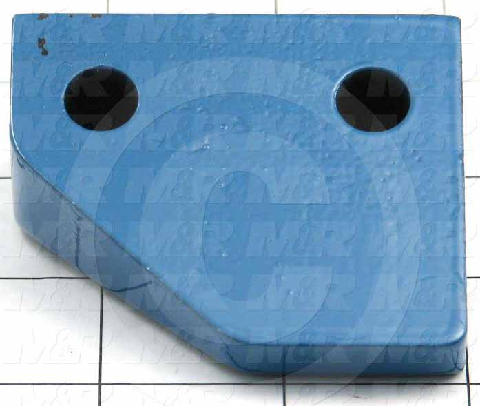 Fabricated Parts, Upper Carousel Guide, 2.50 in. Length, 1.25 in. Width, 2.13 in. Height, Left Side