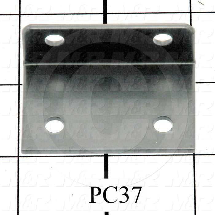Fabricated Parts, Upper Lift Arm Bracket, 2.00 in. Length, 0.75 in. Width, 1.31 in. Height, 14 GA Thickness, Black Finish