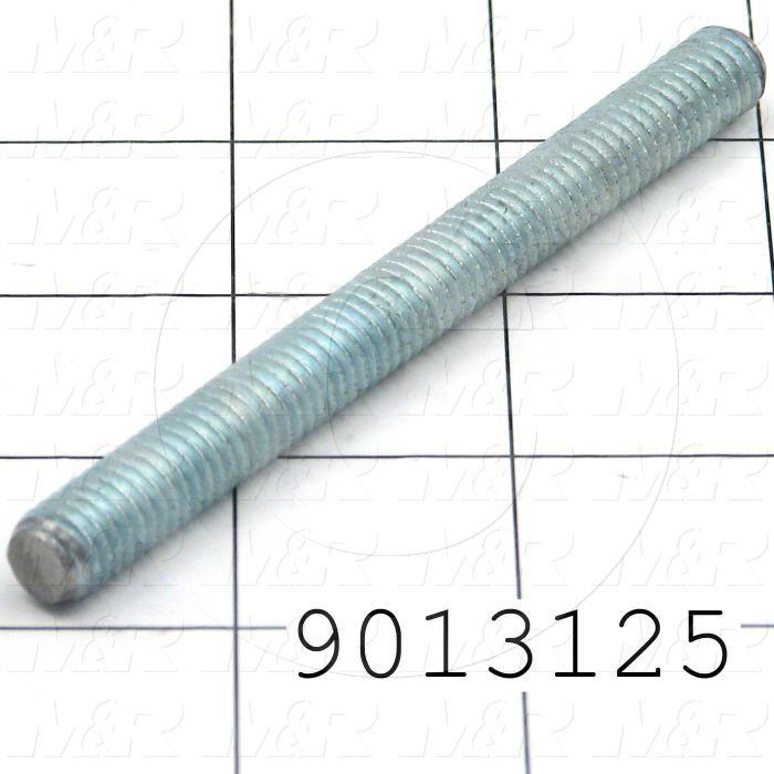 Fabricated Parts, Upper Micro Locking Stud, 3.44 in. Length, 3/8-16 Thread Size