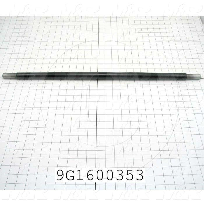 Fabricated Parts, Upper Pinch Take Up Roller, 27.00 in. Length, 1.00 in. Diameter, OC50006 Black Hard Coating Finish