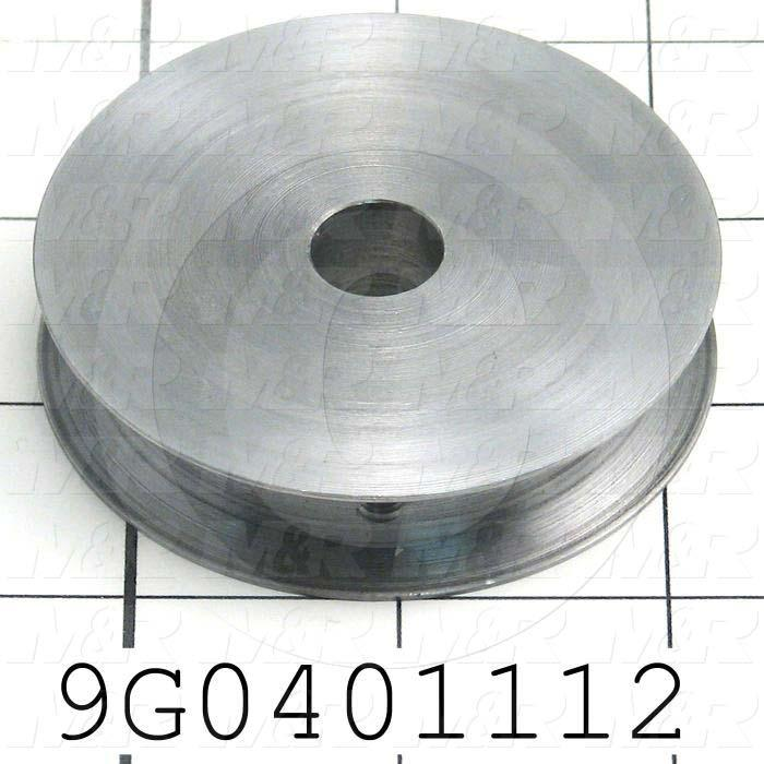 Fabricated Parts, Upper Pulley, 0.56 in. Width, 2.60 in. Diameter