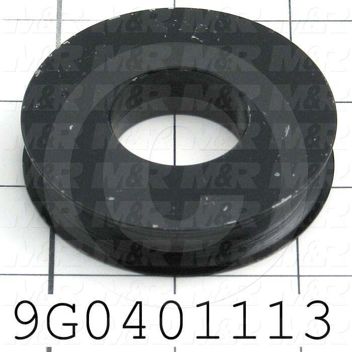 "Fabricated Parts, Upper Pulley ""B"", 0.563 in. Length, 2.60 in. Diameter, Satin Black Finish"
