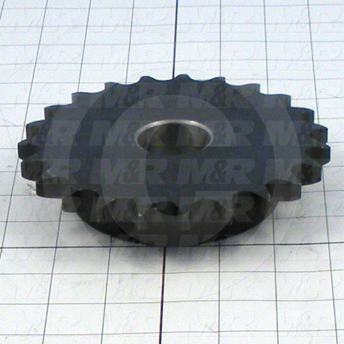"Fabricated Parts, Upper Sprocket Type B 1-3/8"" Bore, 5.99 in. Diameter, 60B23 3/4 in. Pitch 23 Teeth"