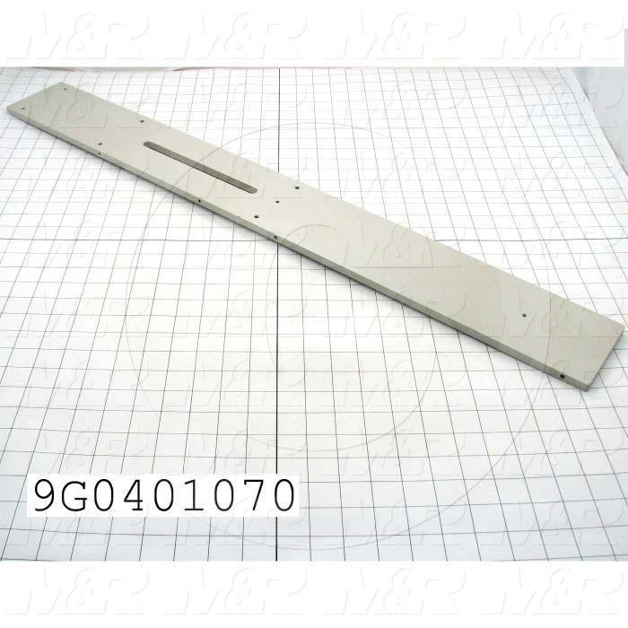 Fabricated Parts, Upper Support Plate, 33.88 in. Length, 4.00 in. Width, 0.375 in. Thickness