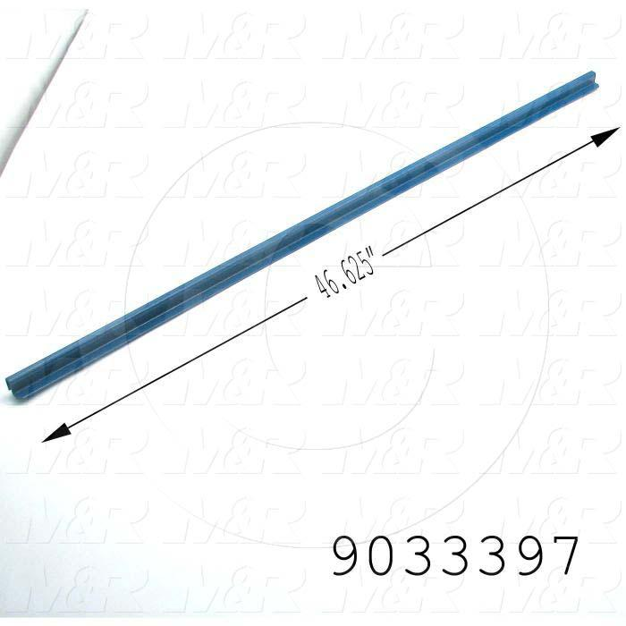 "Fabricated Parts, UV 38"" Filter Channel, 46.63 in. Length, 0.82 in. Width, 0.63 in. Height, 16 GA Thickness"