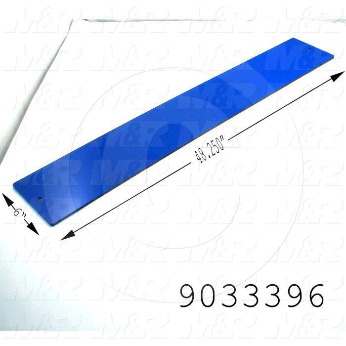 Fabricated Parts, UV Filter Sheet, 50.25 in. Length, 6.00 in. Width, 0.25 in. Thickness