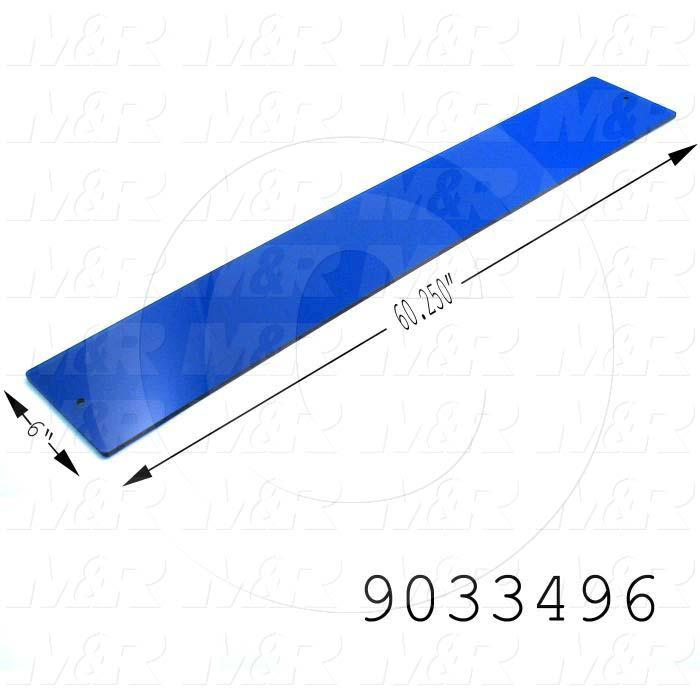 Fabricated Parts, UV Filter Sheet, 59.50 in. Length, 6.00 in. Width, 0.25 in. Thickness, Use In Vitran V48 Series