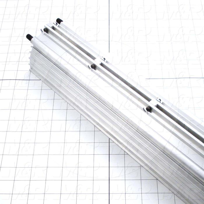 Fabricated Parts, UV Lamp Assembly, 36.75 in. Length, 4.50 in. Width, 3.63 in. Height