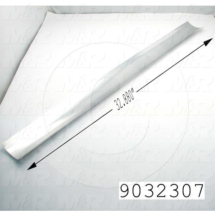 Fabricated Parts, UV Mirror, 32.88 in. Length, 4.05 in. Width, 0.03 in. Thickness