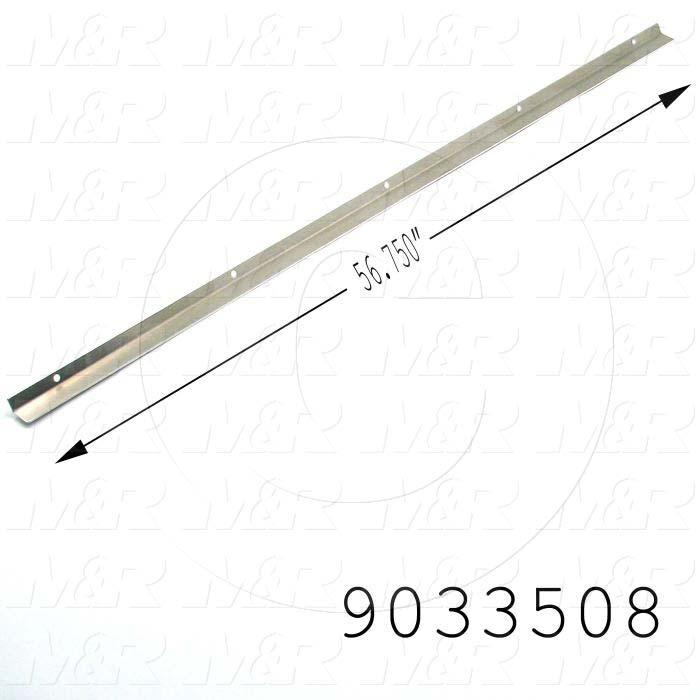 Fabricated Parts, UV Reflector Angle, 56.88 in. Length, 0.42 in. Width, 1.00 in. Height