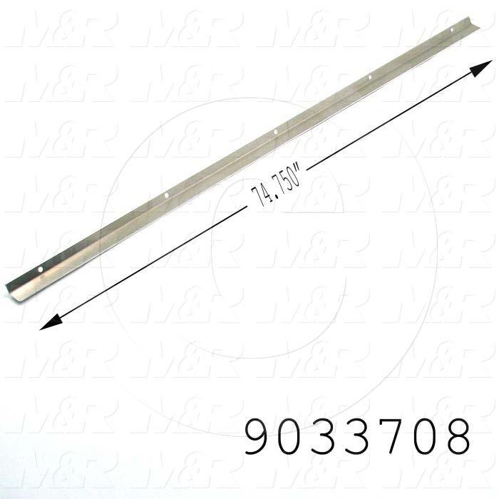 Fabricated Parts, UV Reflector Angle, 74.88 in. Length, 3.65 in. Width, 0.25 in. Height