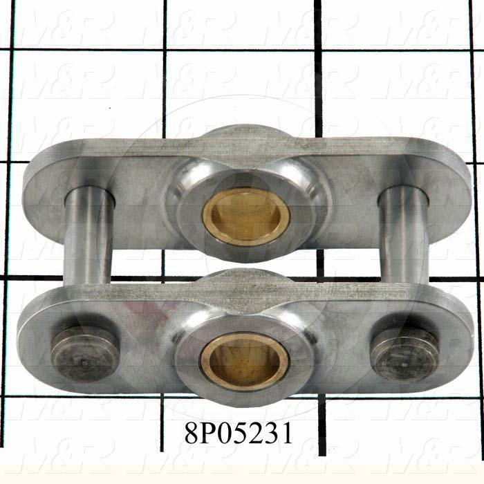 Fabricated Parts, Vacuum Bed Connecting Link, 2.87 in. Length, 1.45 in. Width, 0.88 in. Height