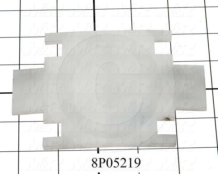 Fabricated Parts, Vacuum Bed Friction Plate, 5.00 in. Length, 4.00 in. Width, 0.13 in. Thickness