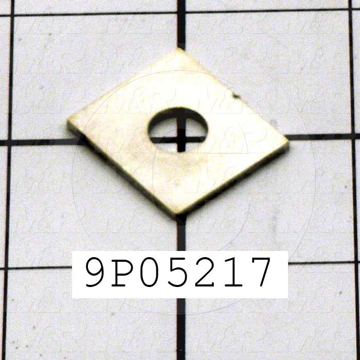 Fabricated Parts, Vacuum Bed Spring Plate, 1.00 in. Diameter, 0.06 in. Thickness