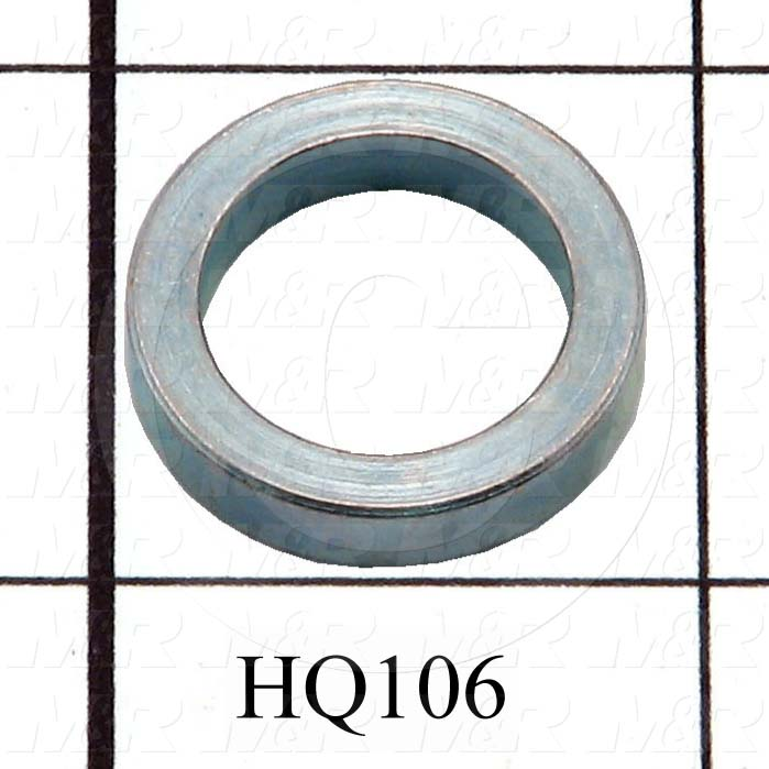 "Fabricated Parts, Vacuum Conn Axle Spacer, 0.875 in. Diameter, 0.188 in. Thickness, 0.630""ID, Cadmium Finish"