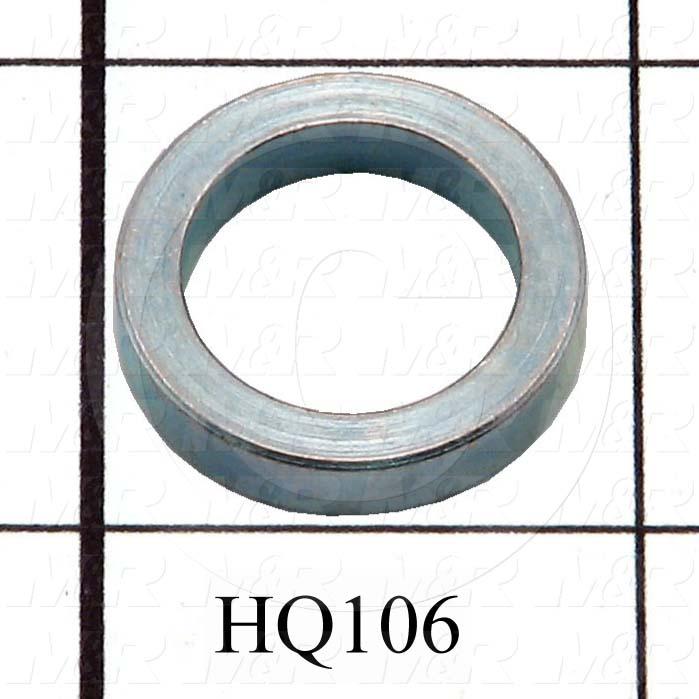 "Fabricated Parts, Vacuum Conn Axle Spacer, 0.875 in. Diameter, 0.188 in. Thickness, 0.630""ID, Cadmium Finish"