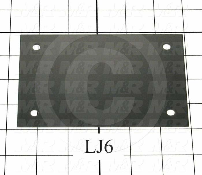 Fabricated Parts, Vacuum Pump Plate, 5.63 in. Length, 3.88 in. Width, 20 GA Thickness
