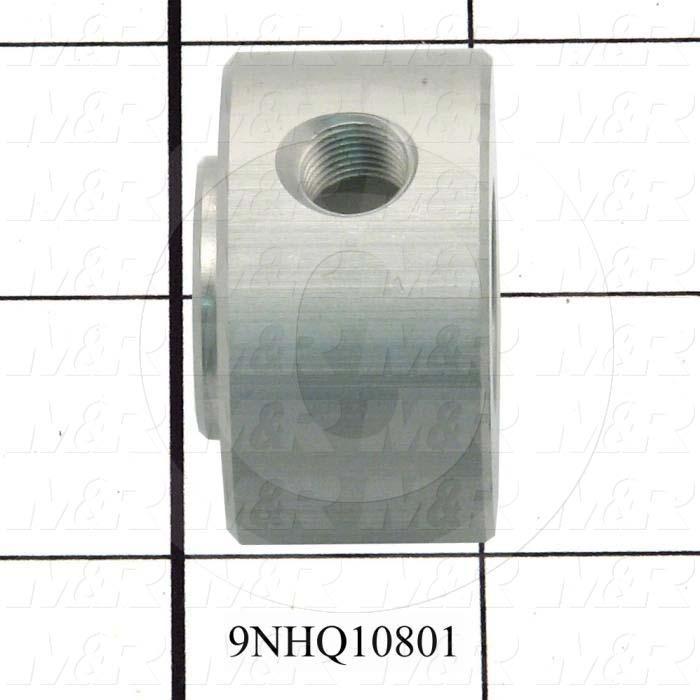 Fabricated Parts, Vacuum Swivel, 0.96 in. Length, 1.63 in. Diameter