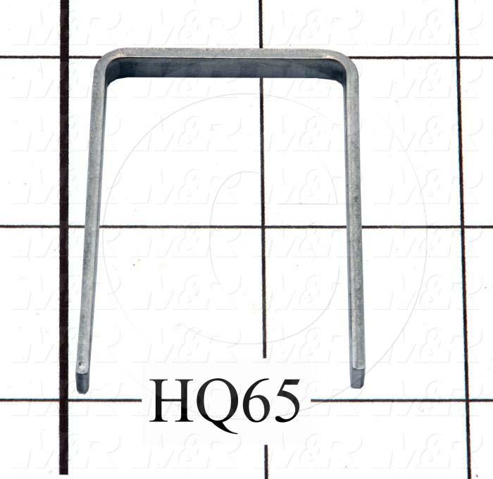 Fabricated Parts, Vacuum Swivel Stop, 1.93 in. Length, 1.38 in. Width, 0.18 in. Height