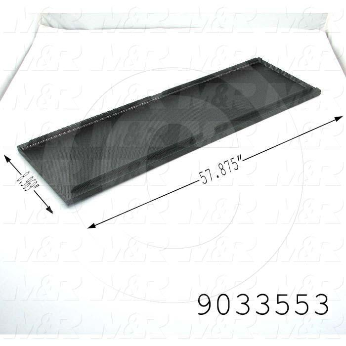 Fabricated Parts, Vacuum Top Sides, 57.88 in. Length, 8.97 in. Width, 1.03 in. Height, Use In Vitran V54 Series