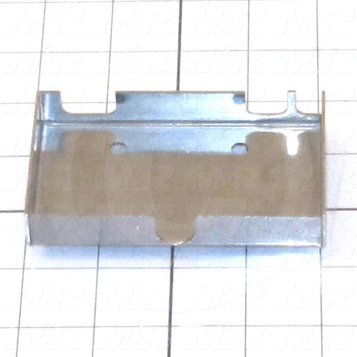 Fabricated Parts, Valve 4 Way Mtg Box, 4.00 in. Length, 2.25 in. Width, 0.69 in. Height, 18 GA Thickness